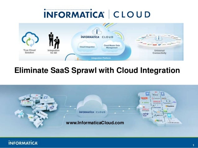 Eliminate SaaS Sprawl with Cloud Integration             www.InformaticaCloud.com                                         ...