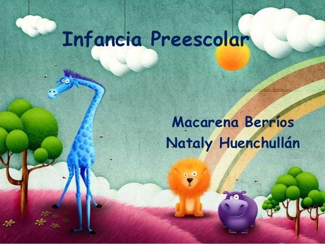 Infancia Preescolar          Macarena Berríos          Nataly Huenchullán