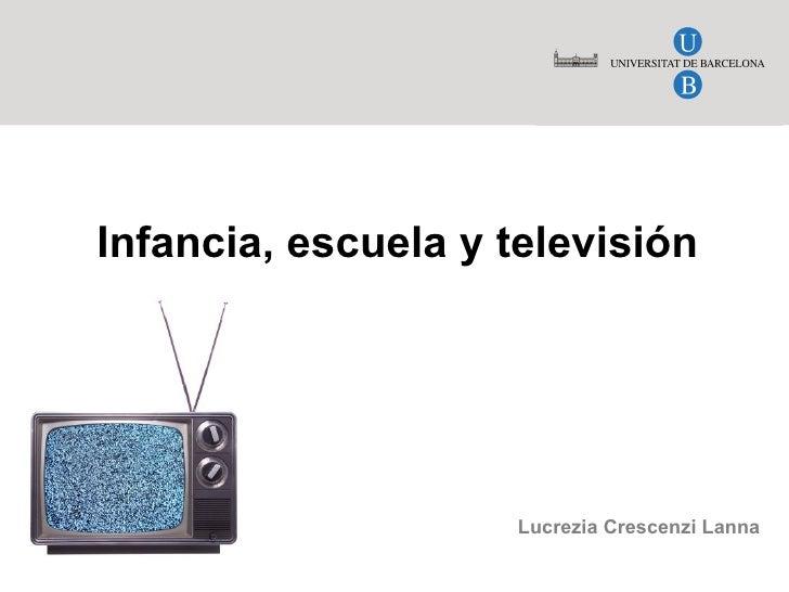 Infancia, escuela y televisión Lucrezia Crescenzi Lanna