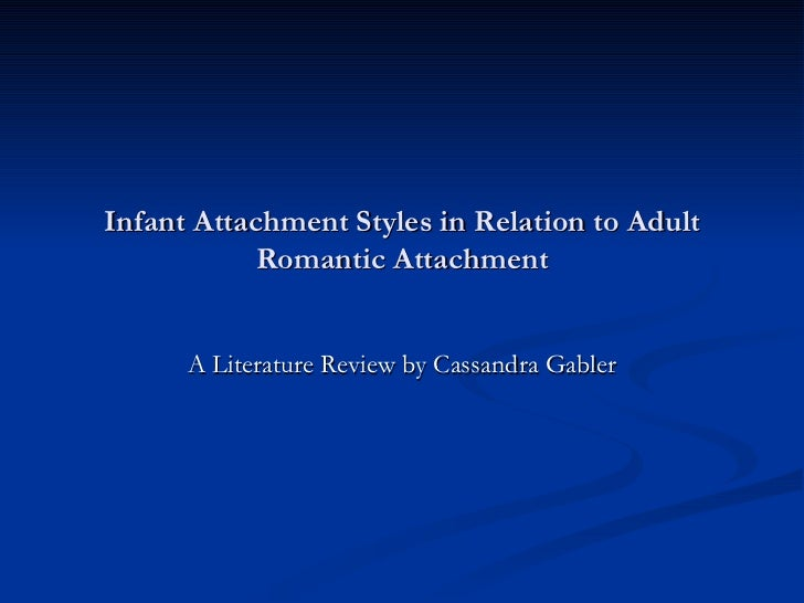 Infant Attachment Styles in Relation to Adult Romantic Attachment A Literature Review by Cassandra Gabler