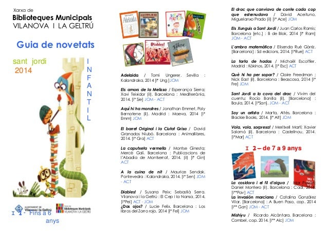 Guia de lectura Infantil - Sant Jordi 2014