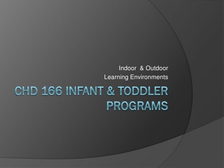 Infant &  Toddler Slidecast