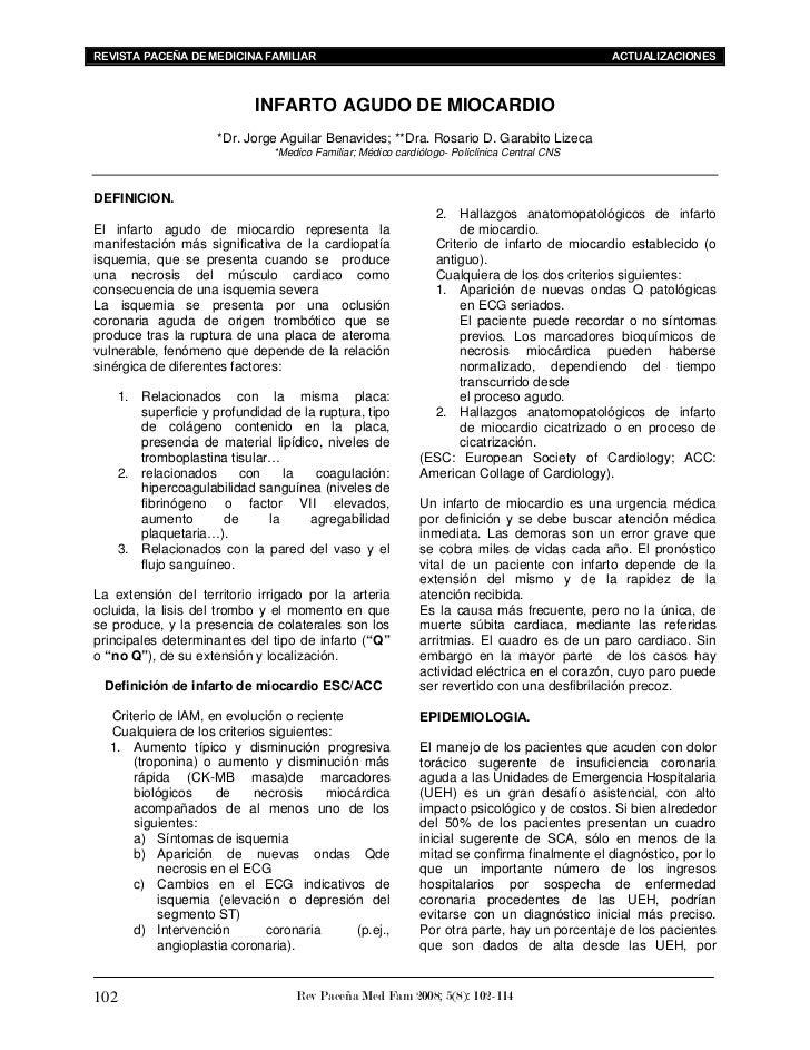 REVISTA PACEÑA DE MEDICINA FAMILIAR                                                          ACTUALIZACIONES              ...