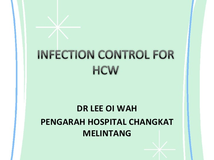 Inf control for hcw 2012