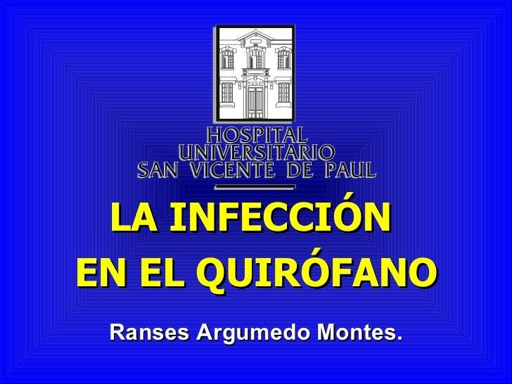 Infeccion en quirofano