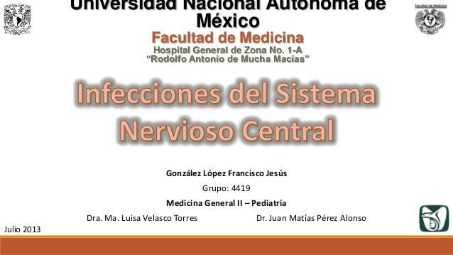 """Julio 2013 Universidad Nacional Autónoma de México Facultad de Medicina Hospital General de Zona No. 1-A """"Rodolfo Antonio ..."""