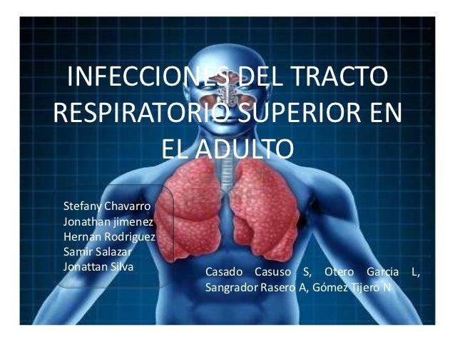 INFECCIONES DEL TRACTORESPIRATORIO SUPERIOR EN        EL ADULTOStefany ChavarroJonathan jimenezHernan RodriguezSamir Salaz...