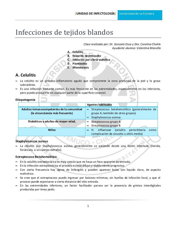 [UNIDAD DE INFECTOLOGÍA] Universidad de La FronteraInfecciones de tejidos blandos                                         ...