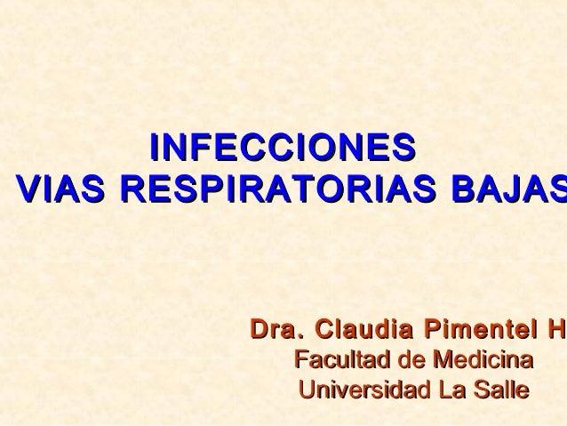 Infecciones de vias respiratorias bajas 1