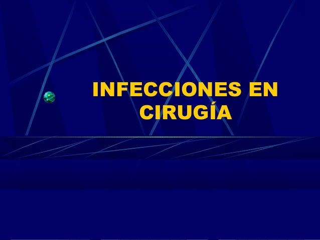 Infecciones en cirugía