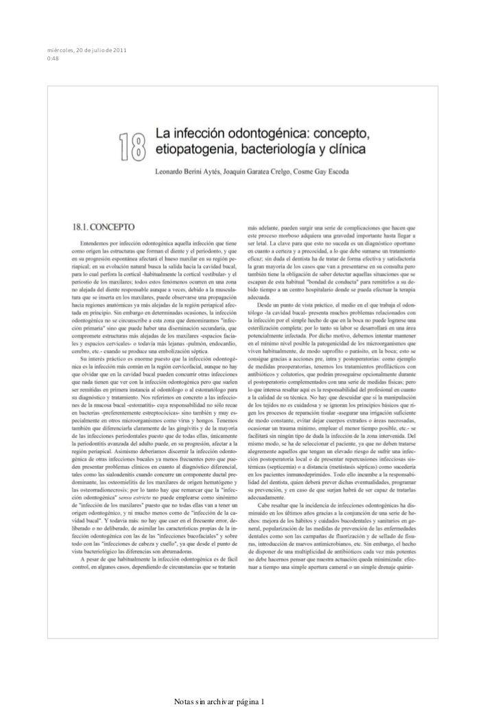Infeccionesodontogenicas