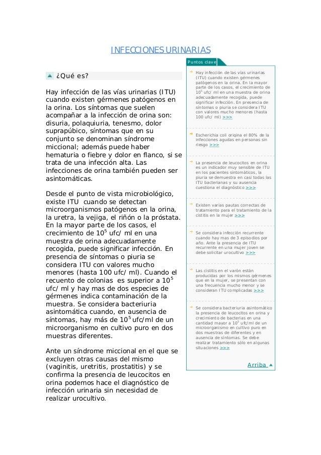 INFECCIONES URINARIAS                                                Puntos clave                                         ...