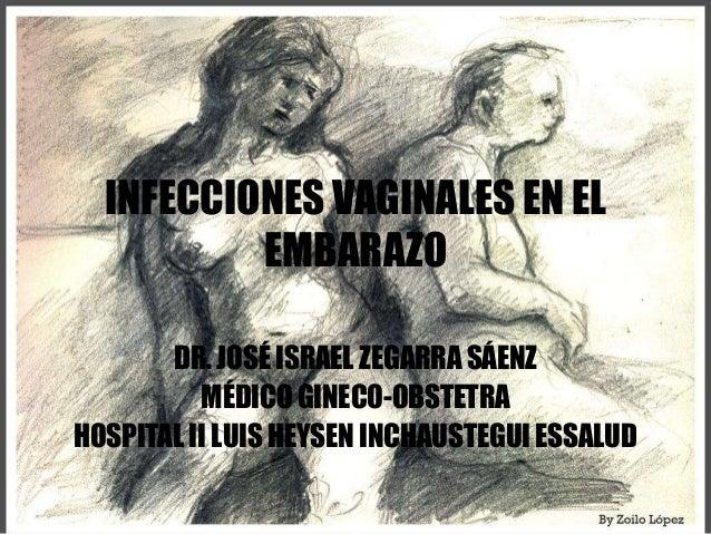 INFECCIONES VAGINALES EN ELEMBARAZODR. JOSÉ ISRAEL ZEGARRA SÁENZMÉDICO GINECO-OBSTETRAHOSPITAL II LUIS HEYSEN INCHAUSTEGUI...
