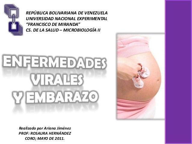 Infecciones virales en el embarazo
