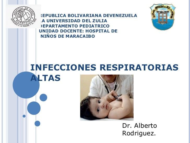 REPUBLICA BOLIVARIANA DEVENEZUELA LA UNIVERSIDAD DEL ZULIA DEPARTAMENTO PEDIATRICO UNIDAD DOCENTE: HOSPITAL DE  NIÑOS DE M...