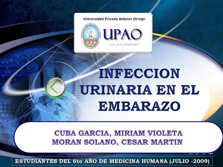INFECCION DEL TRACTO URINARIO EN EL EMBARAZO (JULIO 2009)