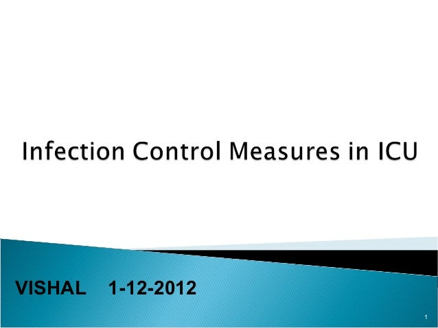 Infection control in icu