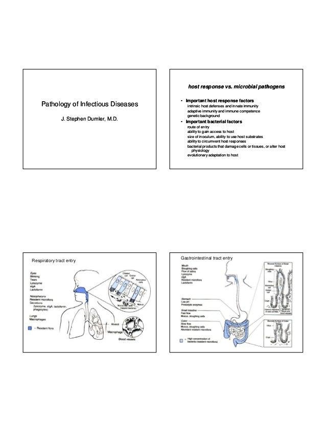 host response vs. microbial pathogens  Pathology of Infectious Diseases J. J Stephen Dumler M D Dumler, M.D.  • Important ...