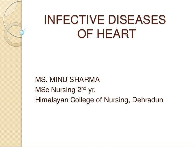 Infective diseases of heart