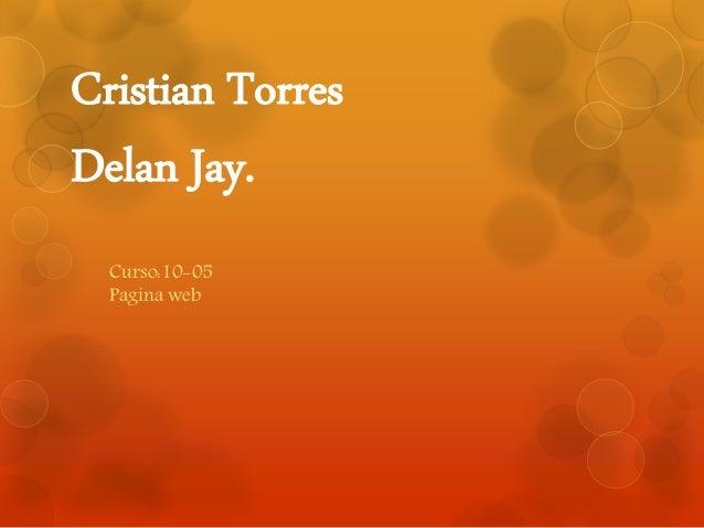 Cristian Torres Delan Jay. Curso:10-05 Pagina web