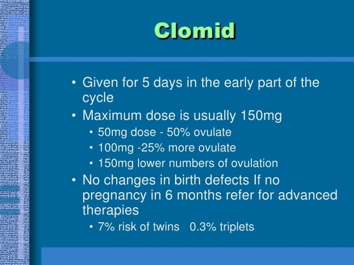 Clomid And Success Rates