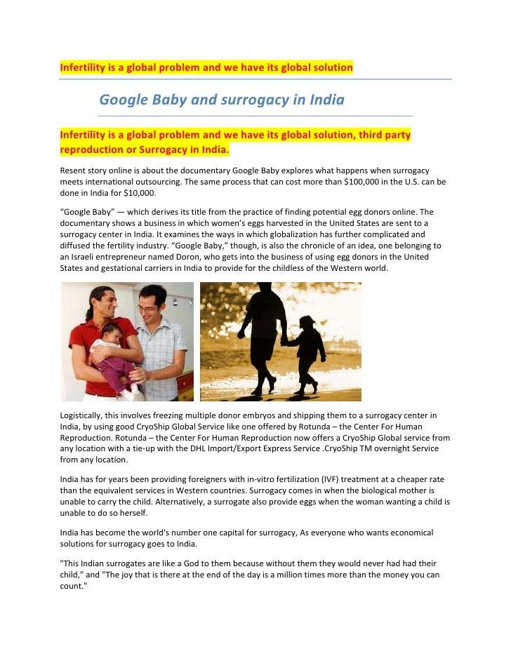 Infertilityisaglobalproblemandwehaveitsglobalsolution                    GoogleBabyandsurrogacyinIndia ...