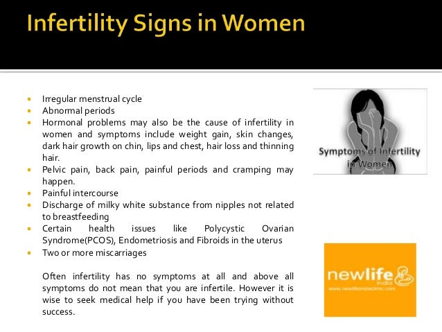 Infertility in Women Symptoms of Infertility in Women