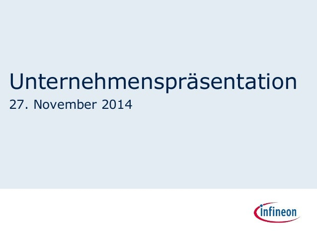 Unternehmenspräsentation  27. November 2014