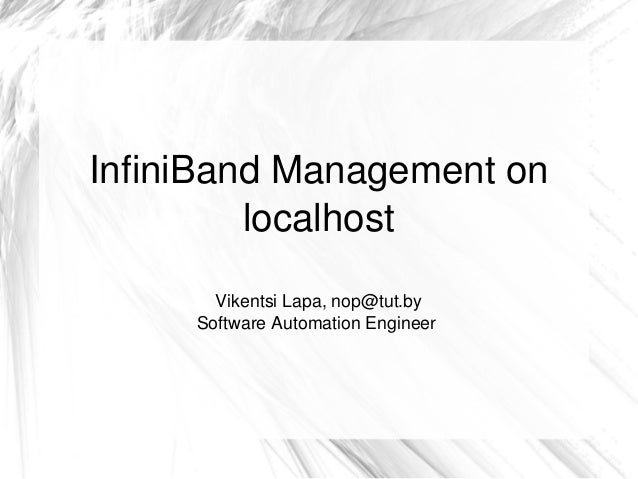 InfiniBand Management on localhost
