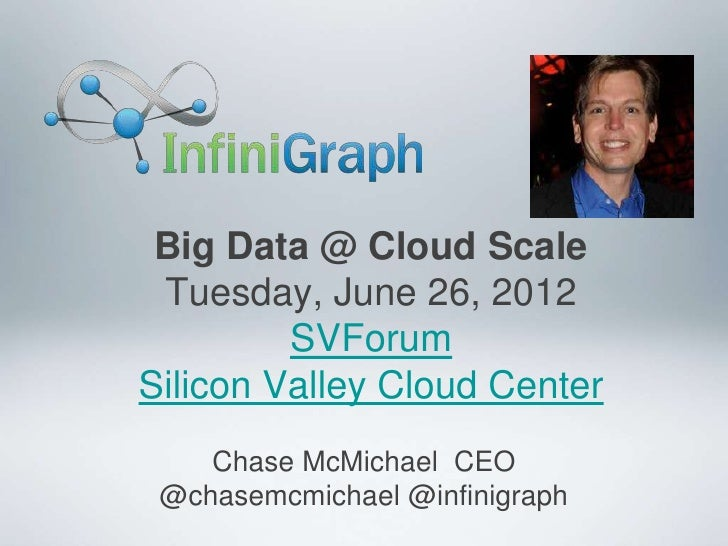 Big Data @ Cloud Scale Tuesday, June 26, 2012         SVForumSilicon Valley Cloud Center    Chase McMichael CEO @chasemcmi...