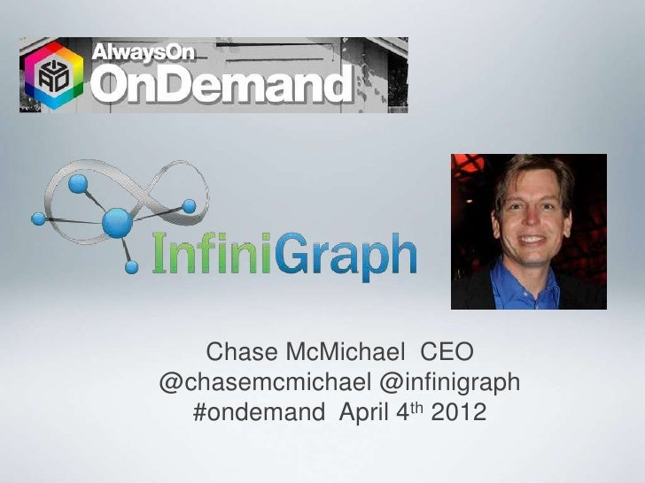 Chase McMichael CEO@chasemcmichael @infinigraph  #ondemand April 4th 2012