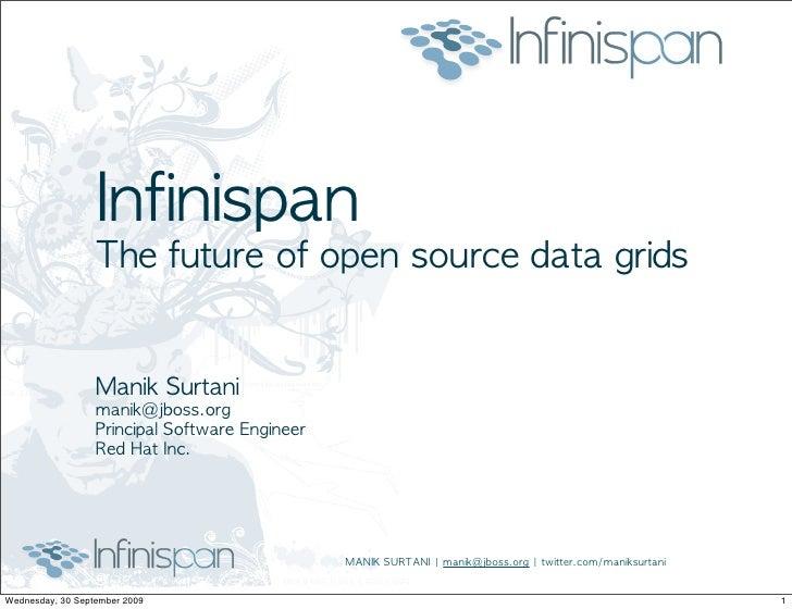 Infinispan The Future Of Os Data Grids   Manik Surtani