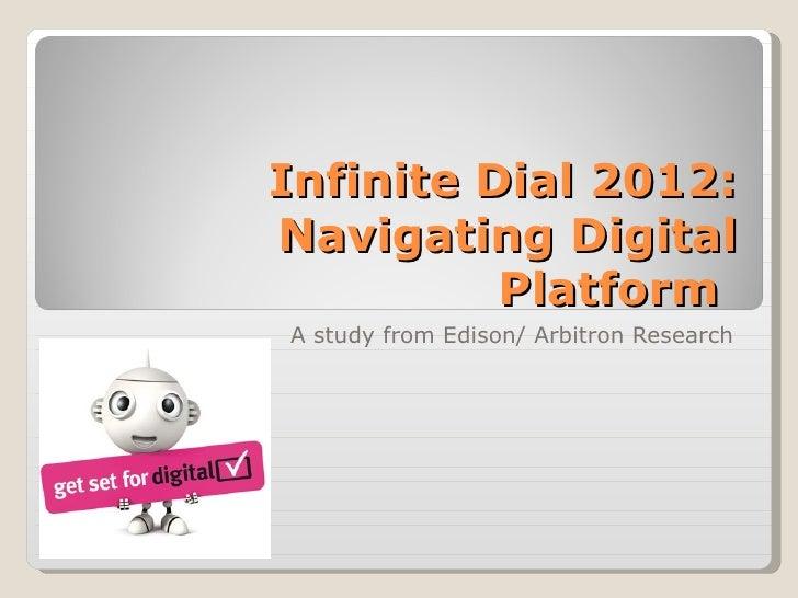 Infinite dial 2012