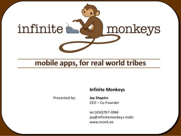 Infinite MonkeysPresented by:   Jay Shapiro                CEO – Co-Founder                tel:(650)787-3984              ...