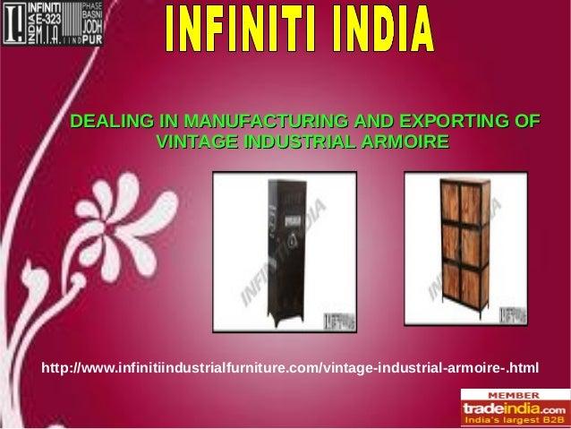 Vintage Industrial Armoire Exporter, Manufacturer, INFINITI INDIA