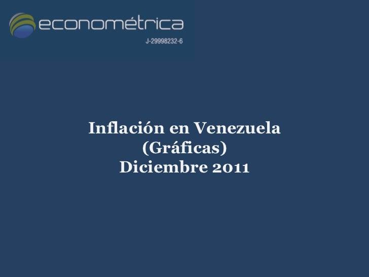 Inflación en Venezuela       (Gráficas)    Diciembre 2011