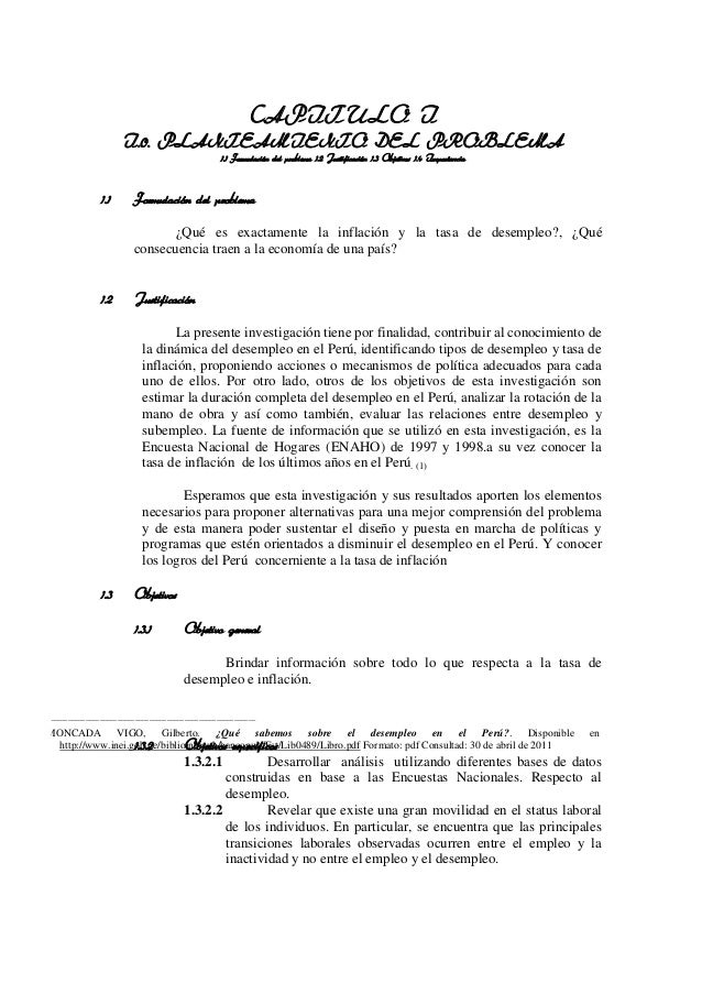 CAPITULO I                      I.0. PLANTEAMIENTO DEL PROBLEMA                                                  1.1 Formu...