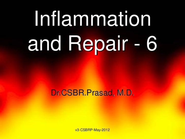 Inflammationand Repair - 6  Dr.CSBR.Prasad, M.D.       v3-CSBRP-May-2012