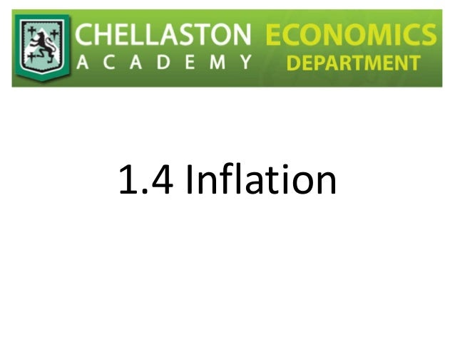 1.4 Inflation