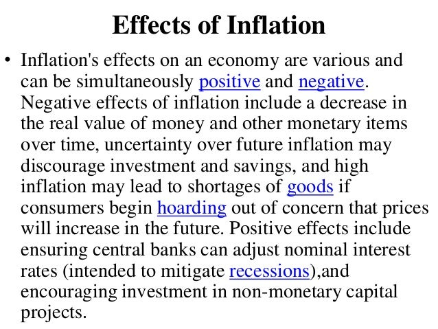 positive effect of inflation on common On average, the effect of inflation is positive and significant,  report, for example, that although city inflation trends converge to a common mean,.