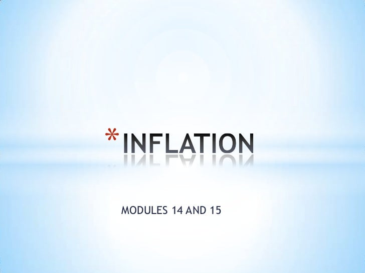 Inflation modules 14 and 15