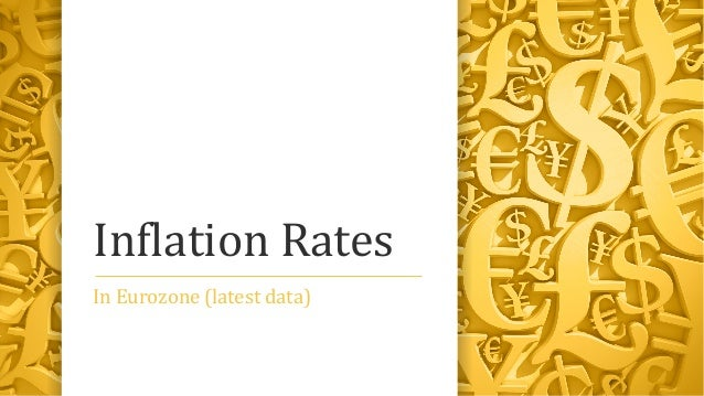 Inflation Rates In Eurozone (latest data)
