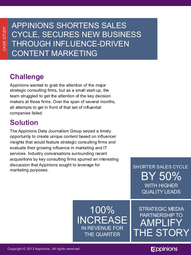 {Case Study} Influence-Driven Content Marketing