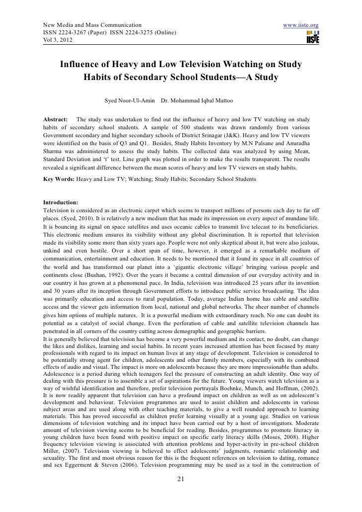 essay on impact of television on students