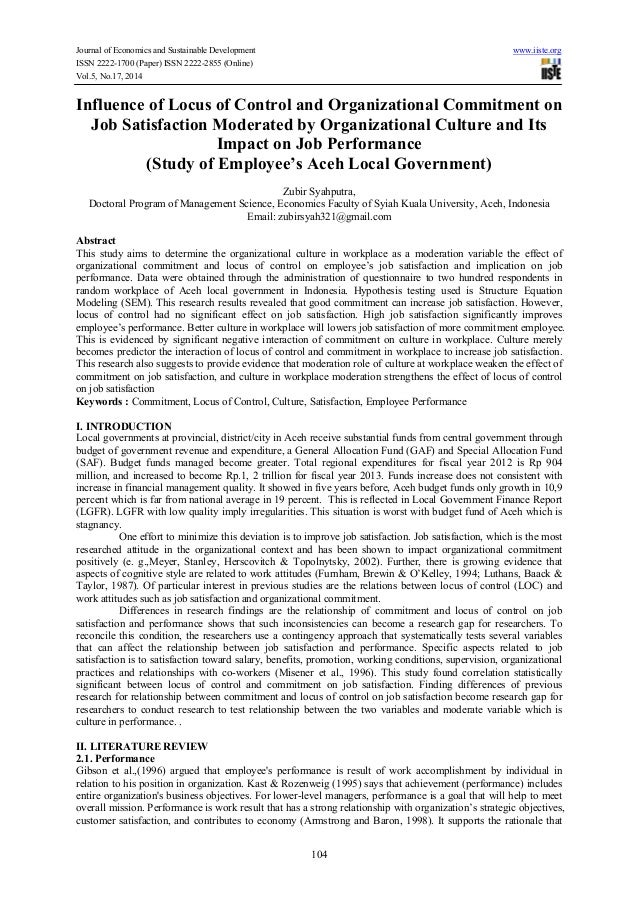 locus of control essay Fnsacc50a implement & maintain internal control procedures assignment 1 who is ultimately responsible for the corporate governance of an organisation.