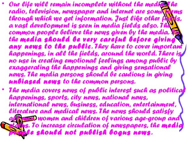 negative influence of media on society essay Sample of the negative effects of mass media essay influence when the relation of the society to these negative influence of mass media lies in.