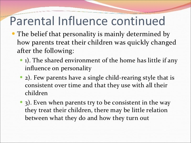 childhood influences essay Parental influence on the emotional development of children by bethel moges and kristi weber when most people think of parenting, they picture changing diapers, messy feeding times, and chasing a screaming child through a crowded grocery store.