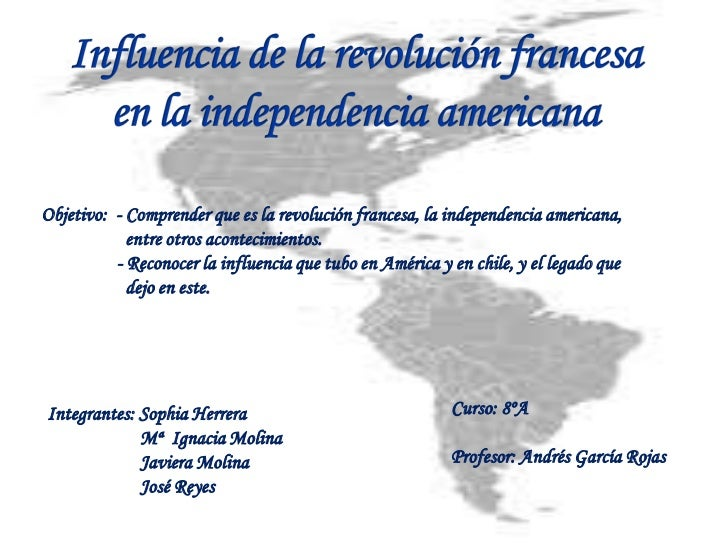 Influencia de la revolución francesa en la independencia (1)