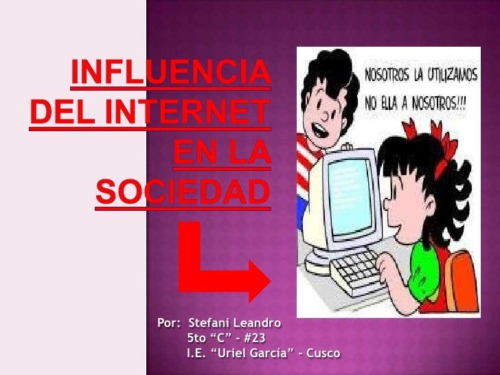 "Por: Stefani Leandro     5to ""C"" - #23     I.E. ""Uriel García"" - Cusco"