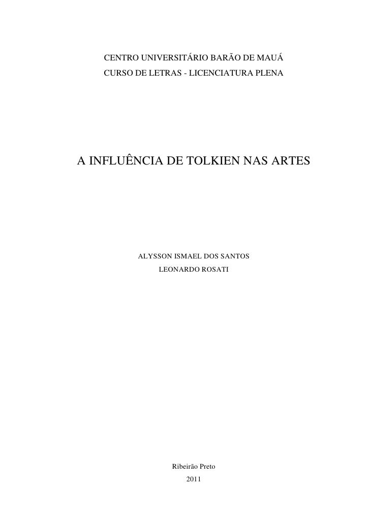 Influência de Tolkien nas Artes